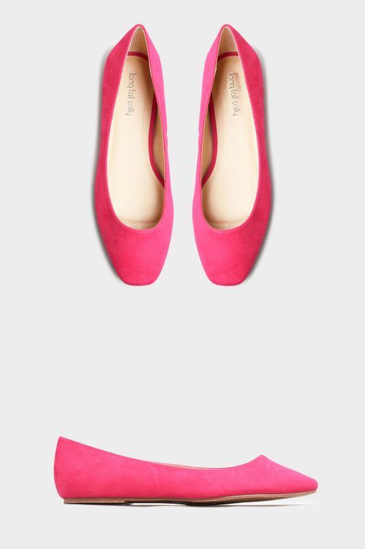 Bright Pink Violetta Square Toe Ballerina