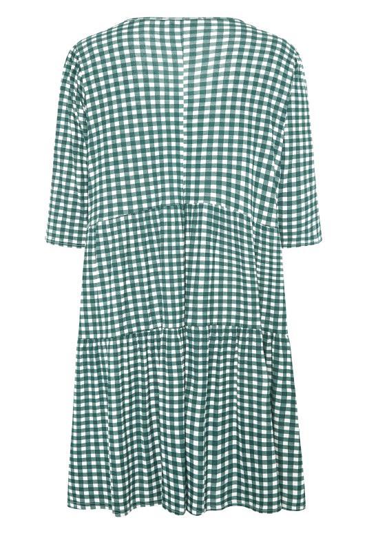 LIMITED COLLECTION Green Gingham Smock Midi Dress_BK.jpg
