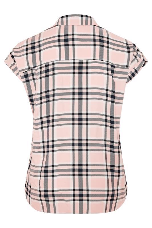 YOURS LONDON Pink Check Shirt_BK.jpg