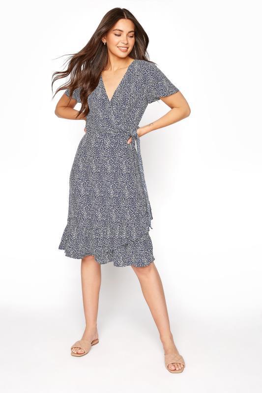 LTS Blue Leopard Print Frill Wrap Dress_A.jpg