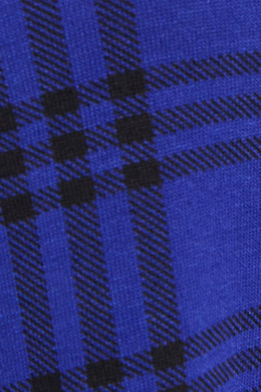 LIMITED COLLECTION Cobalt Blue Check Print Swing Top_S.jpg