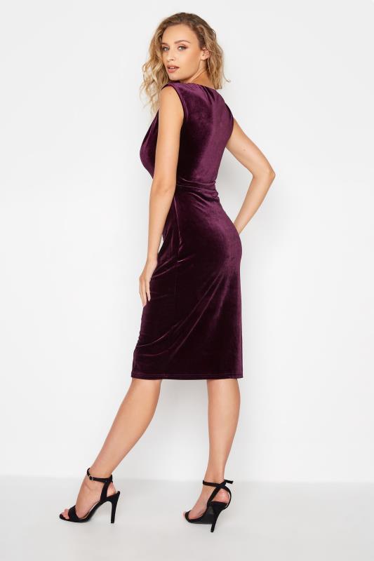 LTS Purple Cowl Neck Velvet Dress_B.jpg