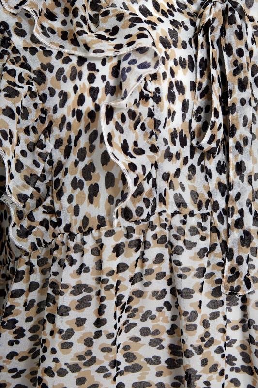 THE LIMITED EDIT White Animal Print Frill Peplum Blouse_S.jpg