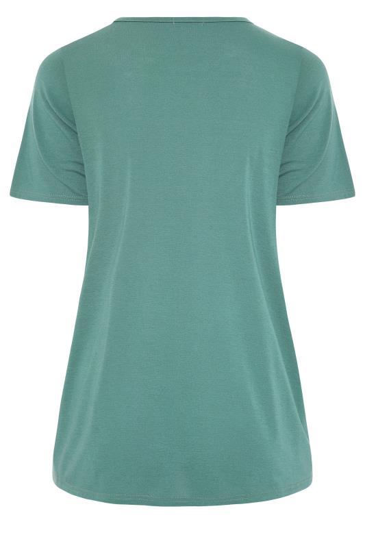 LIMITED COLLECTION Sage 'Mi Amor' Slogan Printed T-Shirt_BK.jpg