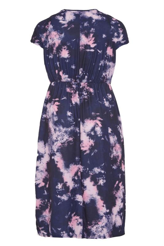 YOURS LONDON Navy Tie Dye Pocket Midi Dress_BK.jpg