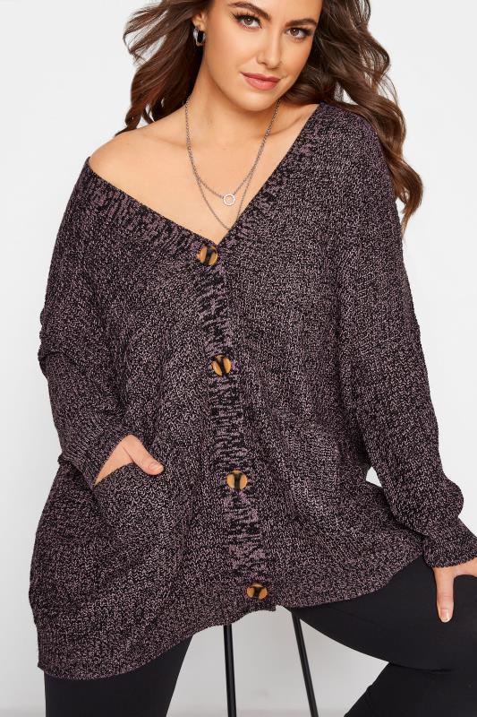 Purple Button Knitted Cardigan_D.jpg