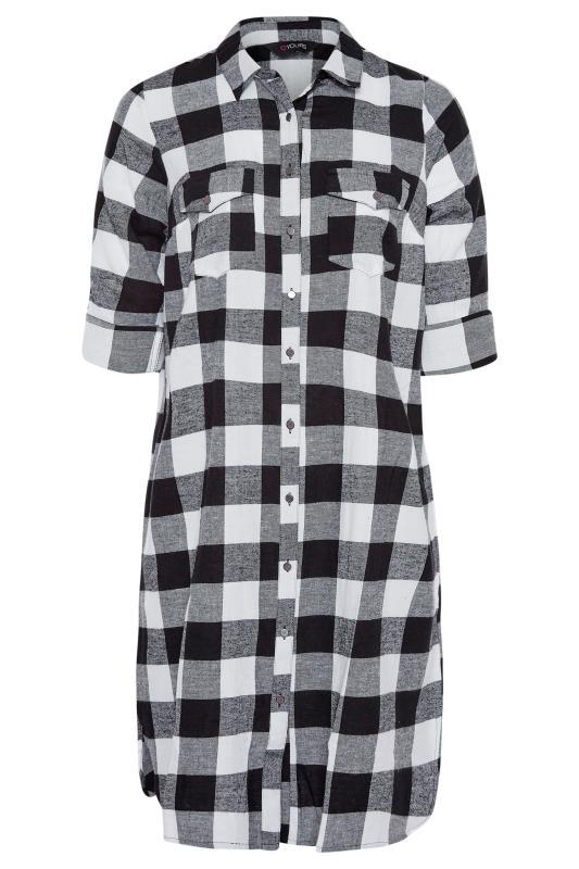 Black Check Cotton Boyfriend Maxi Shirt_F.jpg