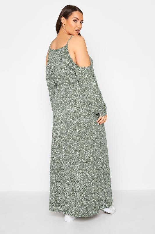 Green Floral Cold Shoulder Maxi Dress_C.jpg