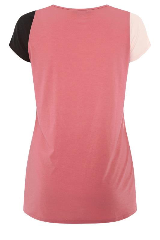 LIMITED COLLECTION Pink Colour Block T-Shirt_BK.jpg