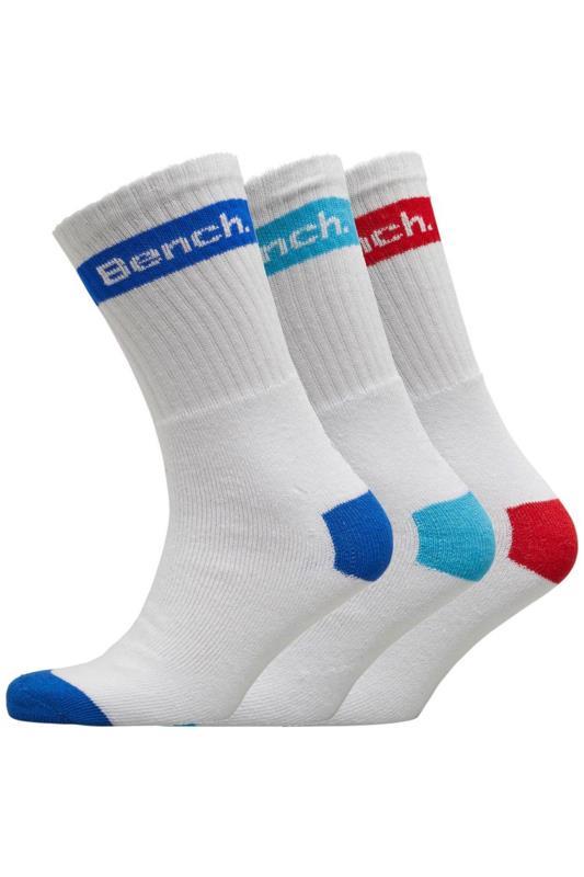 Socks BENCH 3 PACK White Sport Crew Socks