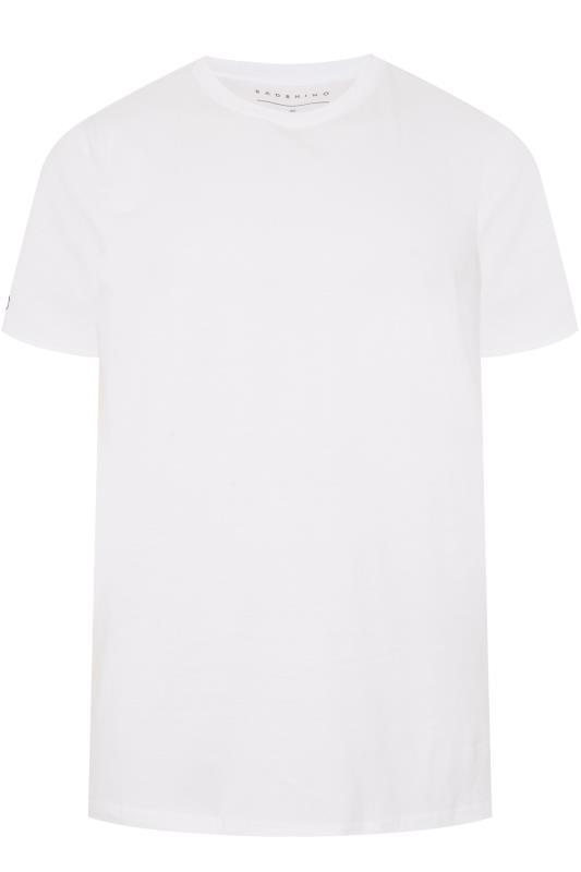 Plus Size T-Shirts BadRhino White Embroidered Logo T-Shirt