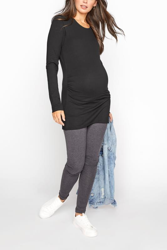 LTS 2 PACK Maternity Black & White Long Sleeve Top_B.jpg