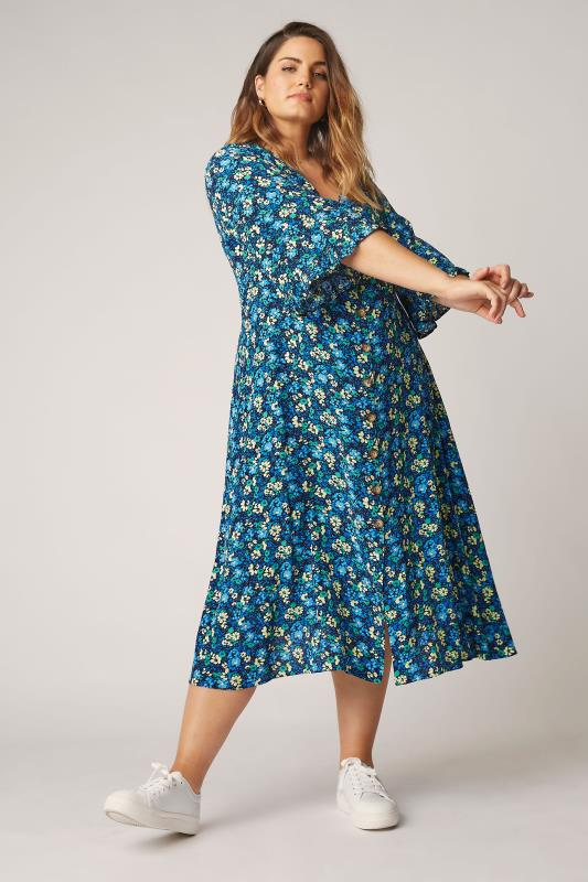 THE LIMITED EDIT Blue Floral Midaxi Dress_B.jpg