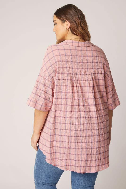 THE LIMITED EDIT Pink Check Pleated Front Top_C.jpg