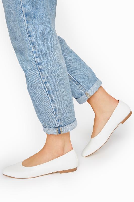 Tall  LTS Off-White Almond Toe Ballerinas