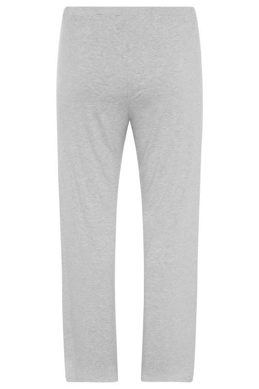 Grey Wide Leg Pull On Stretch Jersey Yoga Pants_BK.jpg