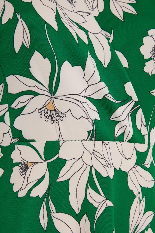 Green Floral Wrap Skater Midi Dress_S.jpg