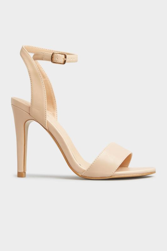 LIMITED COLLECTION Nude Strappy Two Part Heels In Extra Wide Fit_A.jpg