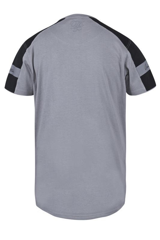 D555 Grey Couture Curved Hem Printed T-Shirt