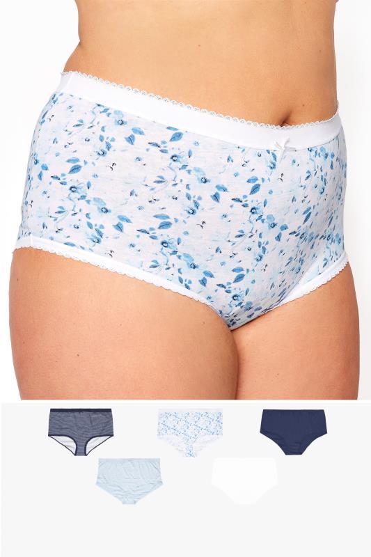 5 PACK Blue Marl Print Full Briefs_split.jpg
