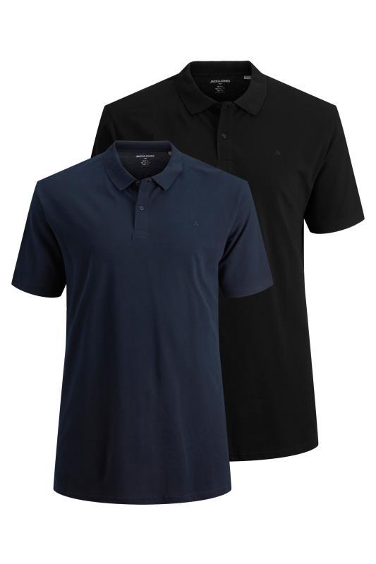 Plus Size  JACK & JONES Multi 2 Pack Polo Shirt