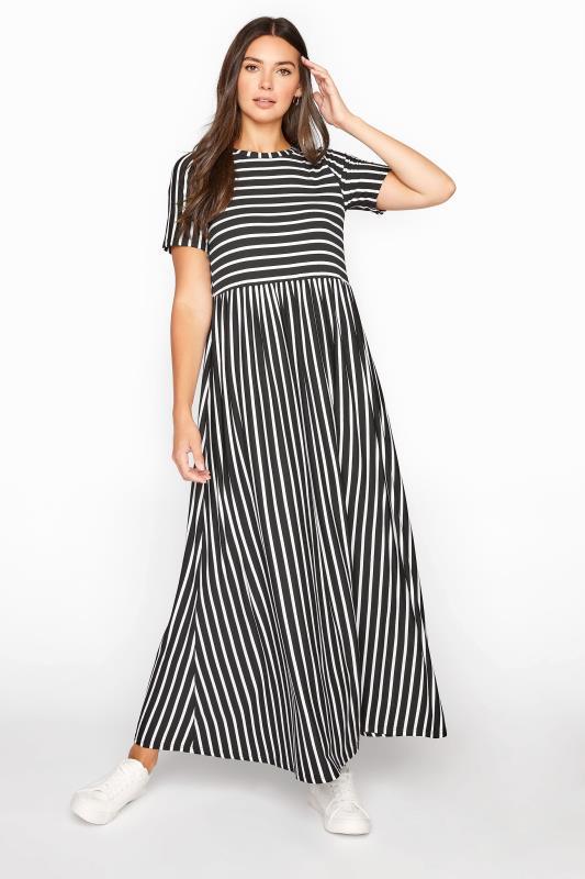 Tall  LTS Black Stripe Midi Dress