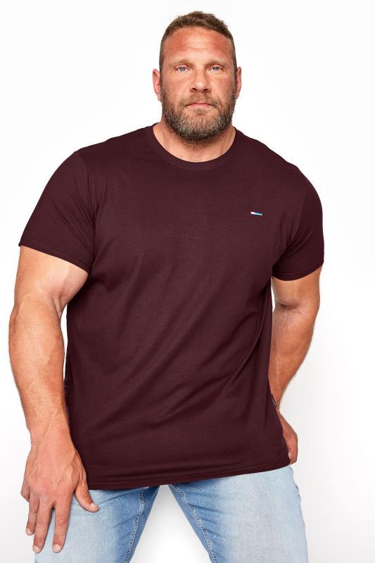 Men's Casual / Every Day BadRhino Burgundy Plain T-Shirt