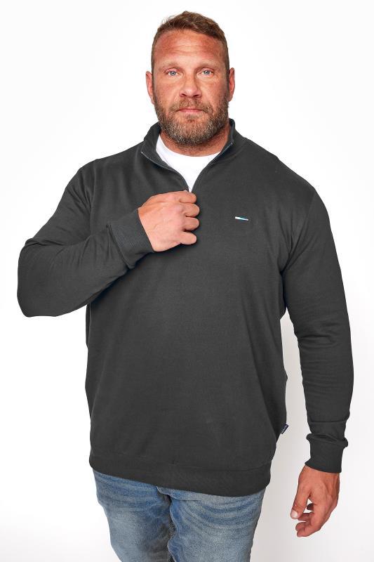 Men's Casual / Every Day BadRhino Black Quarter Zip Essential Sweatshirt