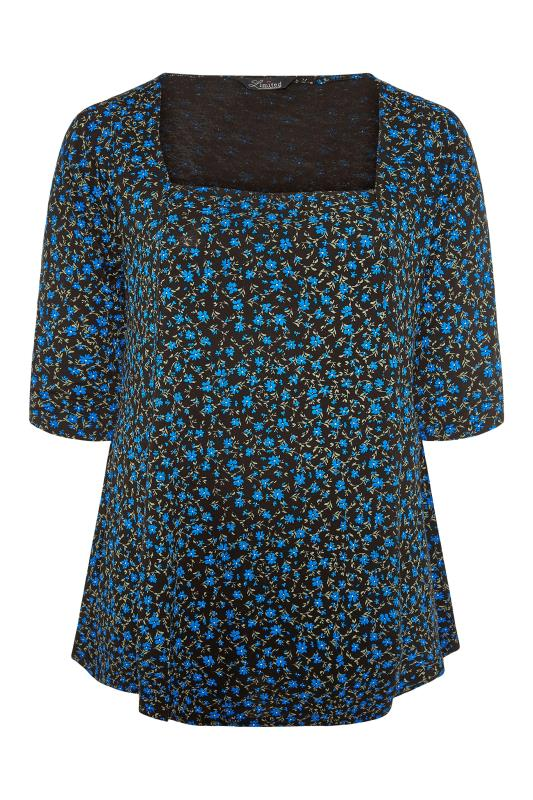 LIMITED COLLECTION Blue Floral Top_F.jpg