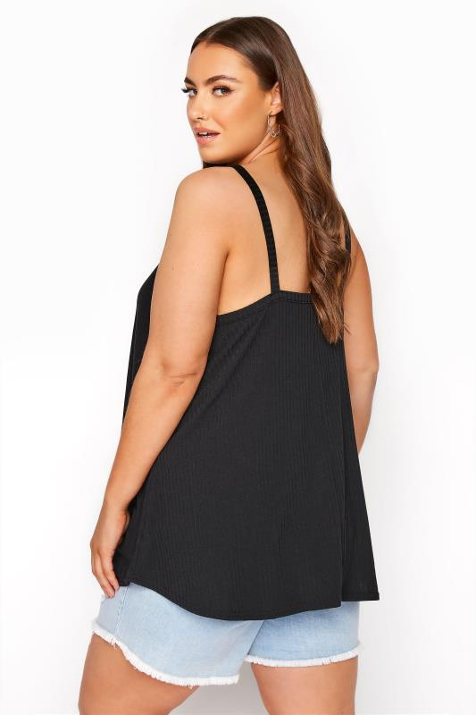 LIMITED COLLECTION Black Rib Swing Cami Top_C.jpg