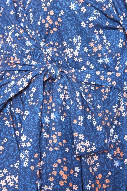 BUMP IT UP MATERNITY Blue Ditsy Wrap Dress_S.jpg
