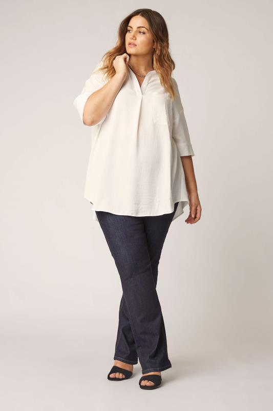 THE LIMITED EDIT White Pleated Front Top_A.jpg