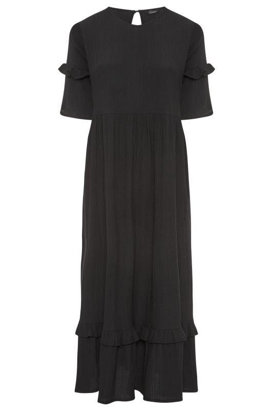 THE LIMITED EDIT Black Smock Midaxi Dress_F.jpg