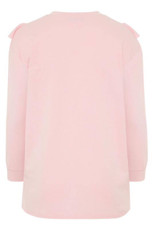 LIMITED COLLECTION Washed Pink Frill Sweatshirt_BK.jpg