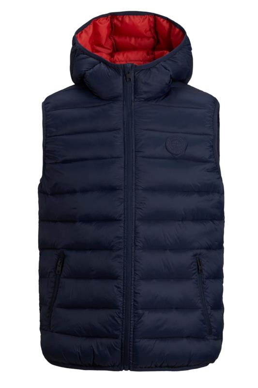 Plus Size Casual / Every Day JACK & JONES Navy Magic Padded Gilet