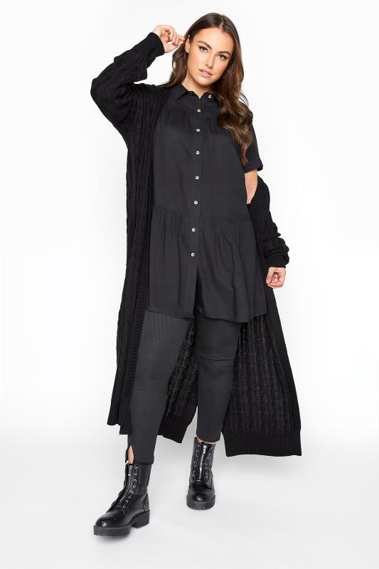 Black Tiered Smock Longline Shirt_A.jpg