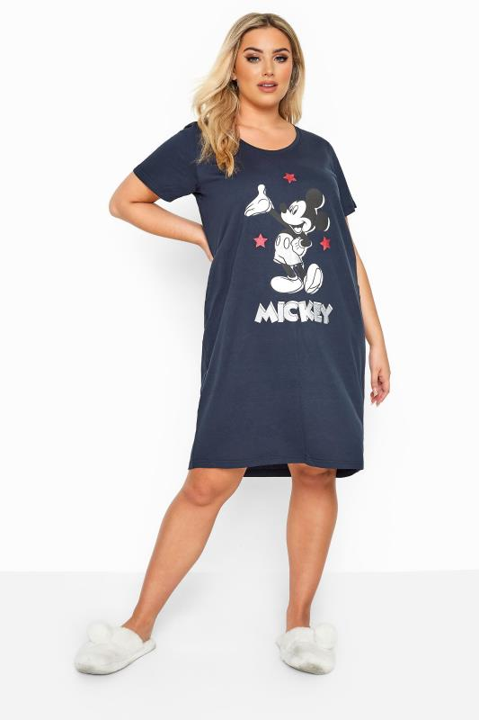 Plus Size Nightdresses & Chemises DISNEY Navy Mickey Mouse Nightdress