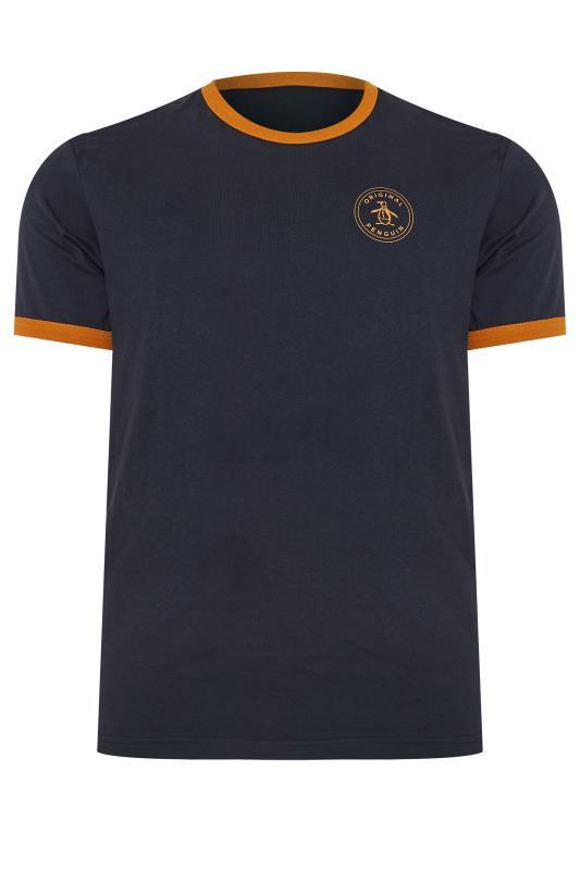 Plus Size T-Shirts PENGUIN MUNSINGWEAR Navy Contrast Ringer T-Shirt