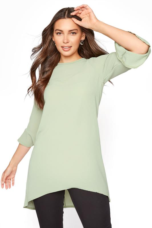 LTS Sage Green Flute Sleeve Tunic