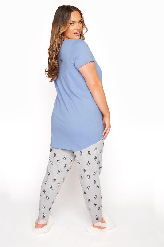 Pale Blue 'Need More Sleep' Slogan Pyjama Set_C.jpg