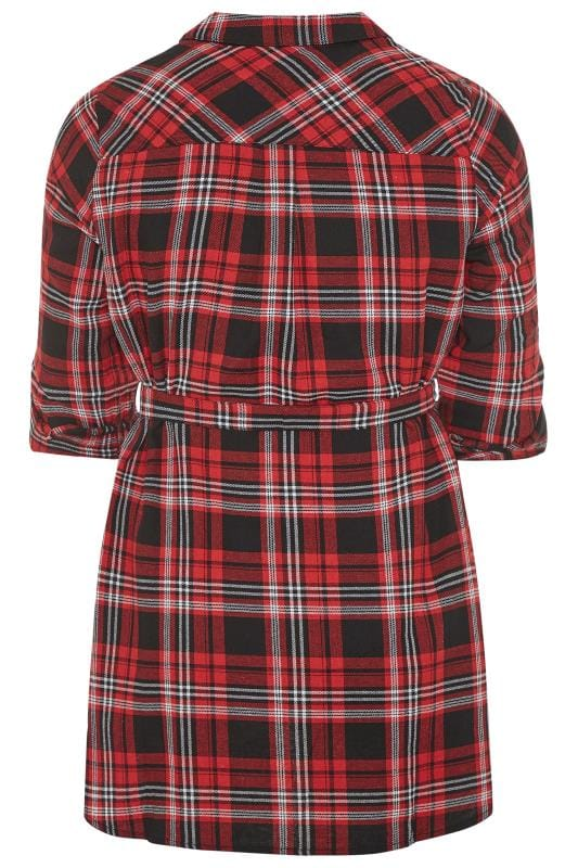 LIMITED COLLECTION Red Belted Check Shirt
