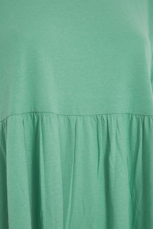 Green Peplum Drop Shoulder Top_S.jpg