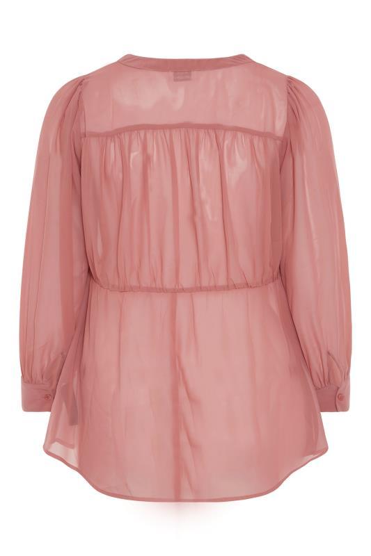 YOURS LONDON Pink Peplum Blouse_BK.jpg