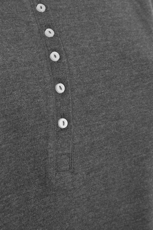 Charcoal Button Scoop Neck Pyjama Top_S.jpg