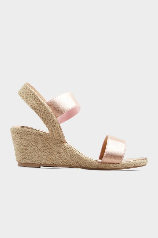 Rose Gold Espadrille Wedge Sandals In Wide Fit_A.jpg