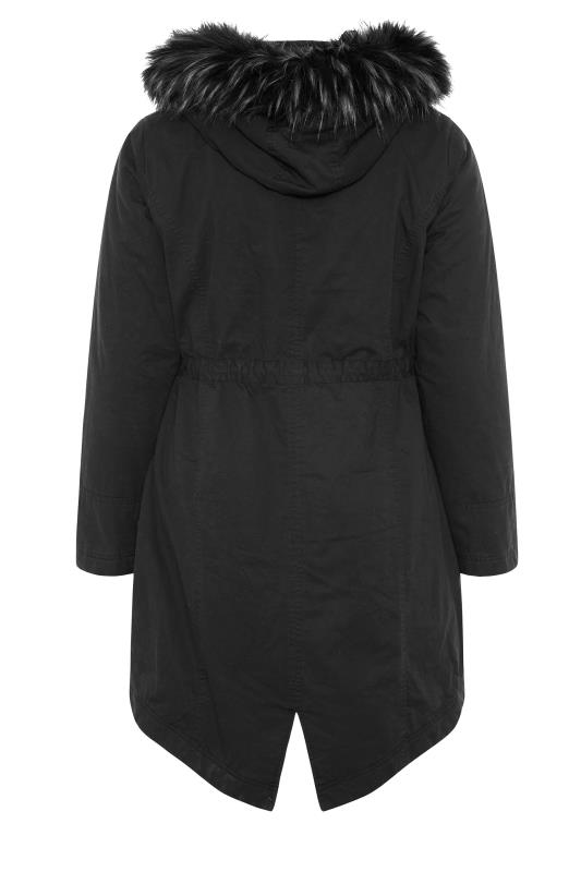 Black Faux Fur Trim Hooded Parka_BK.jpg
