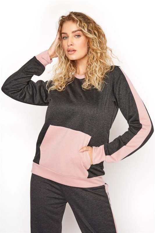 LTS Charcoal Contrast Pocket Sweatshirt
