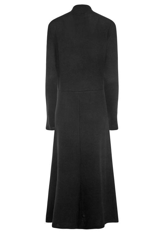 LTS Black Knitted Roll Neck A-Line Midi Dress_BK.jpg