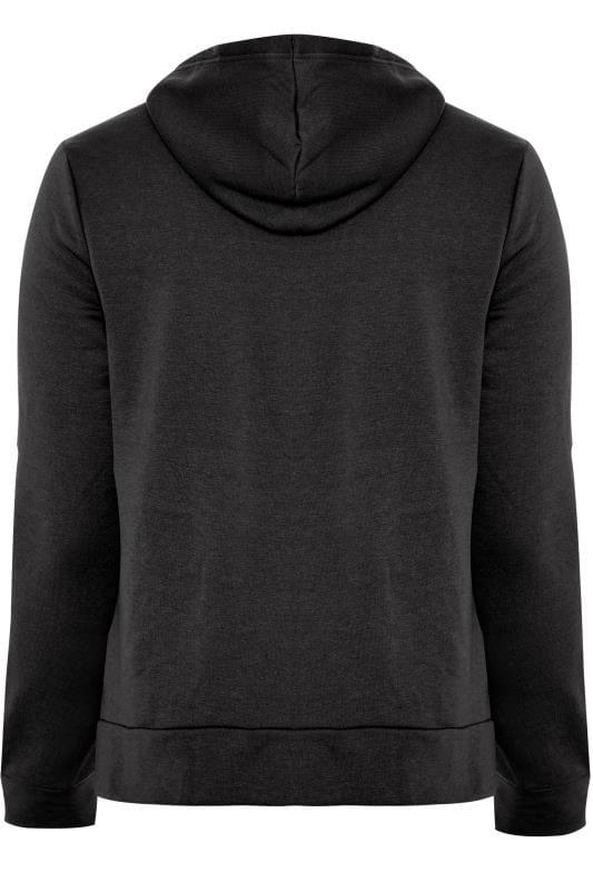 Hoodie met rits en zakken in zwart