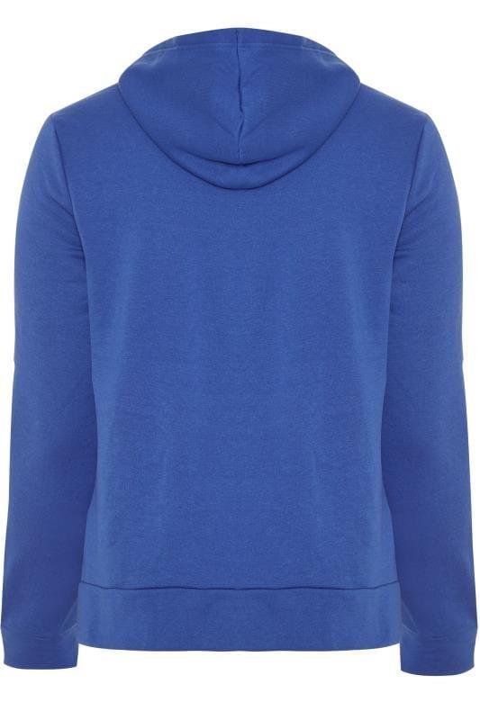 Hoodie van jersey met capuchon in blauw